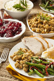 Homemade Turkey Thanksgiving Dinner Stock Photos