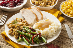 Homemade Turkey Thanksgiving Dinner Stock Photography