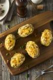 Homemade Twice Baked Potatoes Stock Photos