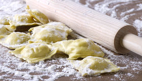 Homemade uncooked ravioli Royalty Free Stock Photography