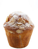 Homemade unwrapped almond muffin Royalty Free Stock Photography
