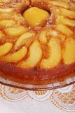 Homemade Upside Down Pear Cake Royalty Free Stock Images