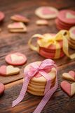 Homemade Valentines cookies royalty free stock photos