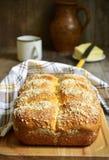 Homemade  vanilla buns with streusel. Stock Photo