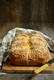 Homemade  vanilla buns with streusel. Royalty Free Stock Images