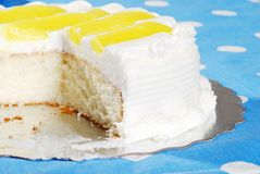 Homemade vanilla lemon cake Stock Images