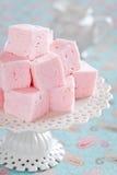 Homemade vanilla and rosewater marshmallows royalty free stock photo