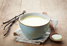 Homemade vanilla sauce Royalty Free Stock Photography