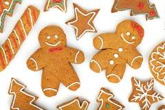 Homemade various christmas gingerbread cookies Stock Image