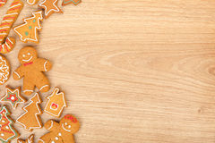 Homemade various christmas gingerbread cookies Stock Images