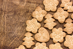 Homemade various gingerbread cookies Royalty Free Stock Photos