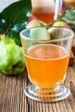 Homemade vegan apple juice with quince Royalty Free Stock Photo