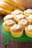 Homemade vegan banana muffins Stock Images