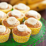 Homemade vegan banana muffins Royalty Free Stock Photography
