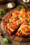 Homemade Vegan Cauliflower Crust Pizza Royalty Free Stock Photos