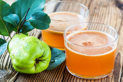 Homemade vegan fruit juice with sweet quince Royalty Free Stock Image