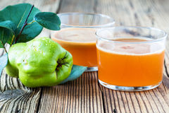 Homemade vegan fruit juice with sweet quince Stock Photography