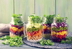 Homemade vegetable salad Stock Images
