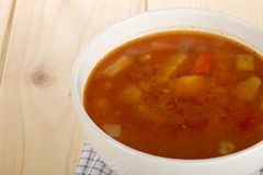 Homemade vegetable soup Royalty Free Stock Images