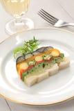 Homemade vegetable terrine Stock Photo