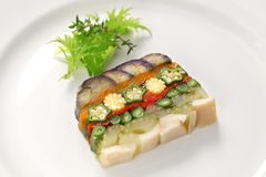 Homemade vegetable terrine Stock Images