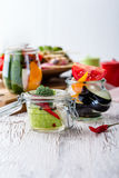 Homemade vegetables preserves. Preserved food concept Royalty Free Stock Images