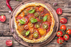 Homemade vegetarian pizza Royalty Free Stock Photo