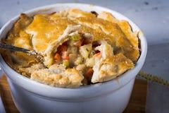 Homemade vegetarian pot pie entre Stock Images