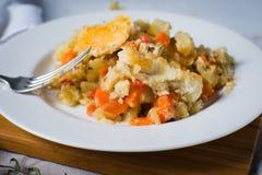 Homemade vegetarian pot pie entre Royalty Free Stock Photos