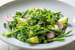 Homemade vegetarian salad with mix of vegetables Stock Images