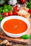 Homemade vegetarian tomato cream soup Stock Image