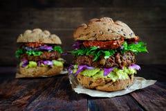 Homemade veggie burger Stock Image