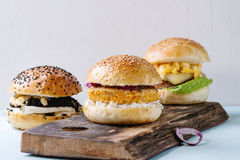 Homemade veggie burger Stock Photography