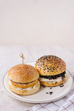 Homemade veggie burger Royalty Free Stock Photos