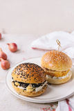 Homemade veggie burger Royalty Free Stock Images