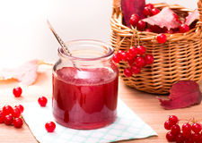 Homemade viburnum jam Royalty Free Stock Image