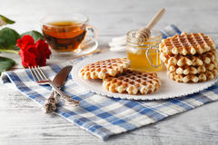 Homemade Viennese wafers Stock Photos