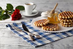 Homemade Viennese wafers Royalty Free Stock Photography