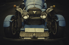 Homemade vintage race blue car in 20's style Royalty Free Stock Photography