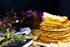Homemade wafers Royalty Free Stock Image