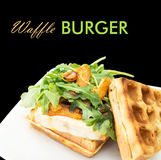 Homemade waffle burger Royalty Free Stock Image