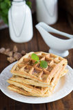 Homemade waffles Royalty Free Stock Photo