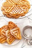 Homemade Waffles Stock Photography