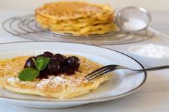 Homemade waffles Stock Photography