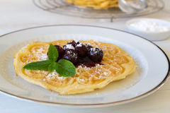 Homemade waffles Royalty Free Stock Image