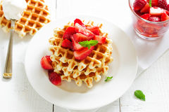 Homemade waffles Royalty Free Stock Images