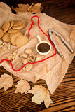 Homemade walnut biscuits Stock Images