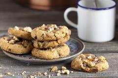 Homemade Walnut Chili Cookies and Coffee Stock Image