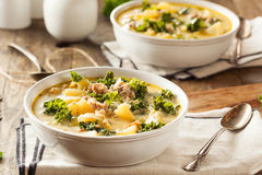 Homemade Warm Creamy Tuscan Soup Stock Images