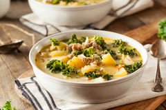 Homemade Warm Creamy Tuscan Soup Royalty Free Stock Photos